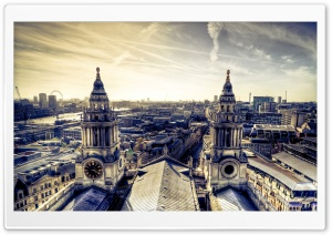 London Panorama From St Paul's HD Wide Wallpaper for 4K UHD Widescreen desktop & smartphone