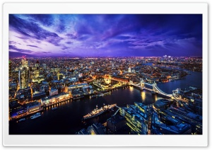 LONDON SKYLINE AT NIGHT HD Wide Wallpaper for Widescreen
