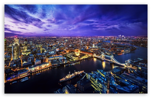 London Skyline At Night 4k Hd Desktop Wallpaper For
