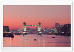 London Thames Sunset Panorama HD Wide Wallpaper for Widescreen