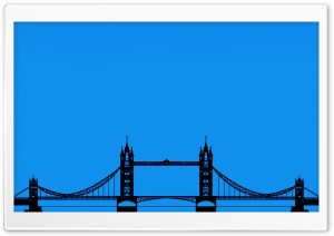 London Tower Bridge Silhouette HD Wide Wallpaper for Widescreen