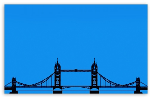 London Tower Bridge Silhouette HD wallpaper for Wide 16:10 Widescreen WHXGA WQXGA WUXGA WXGA ; Standard 4:3 Fullscreen UXGA XGA SVGA ; iPad 1/2/Mini ; Mobile 4:3 - UXGA XGA SVGA ;