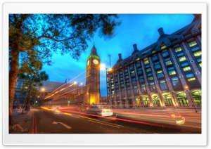 London Traffic at Night HD Wide Wallpaper for Widescreen