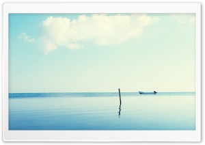Lone Boat HD Wide Wallpaper for Widescreen