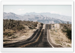 Long Desert Road HD Wide Wallpaper for Widescreen