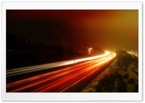 Long Exposure Highway HD Wide Wallpaper for Widescreen