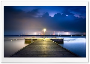 Long Exposure Night Photo HD Wide Wallpaper for Widescreen