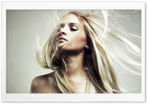 Long Hair Blonde HD Wide Wallpaper for Widescreen