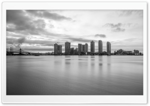 Long Island City Black and White HD Wide Wallpaper for Widescreen