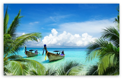 Long Tail Boats, Tropical Beach, Palm Trees Leaves HD wallpaper for Wide 16:10 5:3 Widescreen WHXGA WQXGA WUXGA WXGA WGA ; UltraWide 21:9 24:10 ; HD 16:9 High Definition WQHD QWXGA 1080p 900p 720p QHD nHD ; UHD 16:9 WQHD QWXGA 1080p 900p 720p QHD nHD ; Standard 4:3 5:4 3:2 Fullscreen UXGA XGA SVGA QSXGA SXGA DVGA HVGA HQVGA devices ( Apple PowerBook G4 iPhone 4 3G 3GS iPod Touch ) ; Smartphone 16:9 3:2 5:3 WQHD QWXGA 1080p 900p 720p QHD nHD DVGA HVGA HQVGA devices ( Apple PowerBook G4 iPhone 4 3G 3GS iPod Touch ) WGA ; Tablet 1:1 ; iPad 1/2/Mini ; Mobile 4:3 5:3 3:2 16:9 5:4 - UXGA XGA SVGA WGA DVGA HVGA HQVGA devices ( Apple PowerBook G4 iPhone 4 3G 3GS iPod Touch ) WQHD QWXGA 1080p 900p 720p QHD nHD QSXGA SXGA ; Dual 16:10 5:3 16:9 4:3 5:4 3:2 WHXGA WQXGA WUXGA WXGA WGA WQHD QWXGA 1080p 900p 720p QHD nHD UXGA XGA SVGA QSXGA SXGA DVGA HVGA HQVGA devices ( Apple PowerBook G4 iPhone 4 3G 3GS iPod Touch ) ; Triple 16:10 5:3 16:9 4:3 5:4 3:2 WHXGA WQXGA WUXGA WXGA WGA WQHD QWXGA 1080p 900p 720p QHD nHD UXGA XGA SVGA QSXGA SXGA DVGA HVGA HQVGA devices ( Apple PowerBook G4 iPhone 4 3G 3GS iPod Touch ) ;