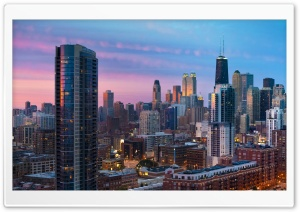 Looking at River North, Chicago HD Wide Wallpaper for 4K UHD Widescreen desktop & smartphone
