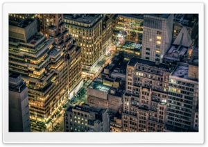 Looking Down on New York City HD Wide Wallpaper for Widescreen