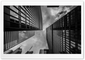 Looking up, Financial District HD Wide Wallpaper for Widescreen