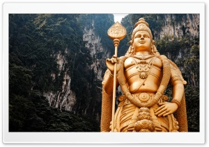 Lord Murugan Statue HD Wide Wallpaper for Widescreen