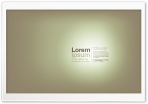 Lorem Ipsum HD Wide Wallpaper for Widescreen