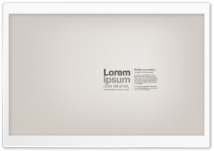 Lorem Ipsum Text HD Wide Wallpaper for Widescreen