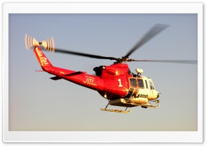 Los Angeles City Fire Department Helicopter HD Wide Wallpaper for Widescreen