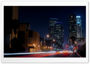 Los Angeles Street HD Wide Wallpaper for Widescreen
