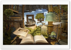 Lost In A Good Book HD Wide Wallpaper for Widescreen