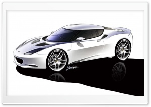 Lotus Evora Sketch 1 HD Wide Wallpaper for Widescreen