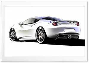 Lotus Evora Sketch 2 HD Wide Wallpaper for Widescreen