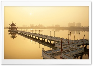 Lotus Pond, Kaohsiung HD Wide Wallpaper for Widescreen