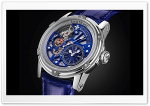 Louis Moinet Watch Blue Tempograph HD Wide Wallpaper for 4K UHD Widescreen desktop & smartphone