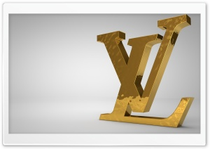 Louis Vuitton Golden Logo HD Wide Wallpaper for Widescreen