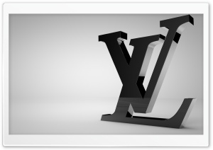 Louis Vuitton Shiny Black Logo HD Wide Wallpaper for Widescreen