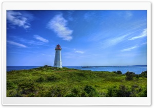 Louisbourg Lighthouse HD Wide Wallpaper for Widescreen
