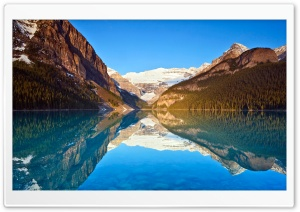 Louise Lake Reflections HD Wide Wallpaper for Widescreen