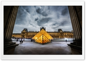 Louvre HDR HD Wide Wallpaper for Widescreen