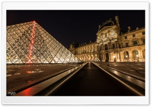 Louvre Museum by Night HD Wide Wallpaper for 4K UHD Widescreen desktop & smartphone