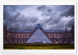 Louvre Museum, Paris, France HD Wide Wallpaper for Widescreen