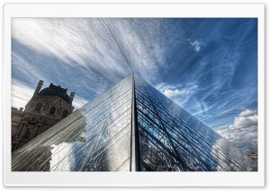 Louvre Pyramid HD Wide Wallpaper for 4K UHD Widescreen desktop & smartphone