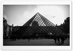 Louvre Pyramid HD Wide Wallpaper for Widescreen