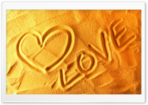 Love   Sand HD Wide Wallpaper for 4K UHD Widescreen desktop & smartphone