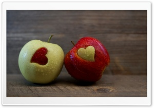 Love Apples Still Life Ultra HD Wallpaper for 4K UHD Widescreen desktop, tablet & smartphone