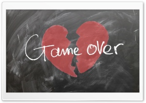 Love Game Over HD Wide Wallpaper for Widescreen