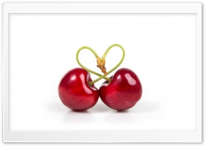 Love Heart Cherries HD Wide Wallpaper for 4K UHD Widescreen desktop & smartphone