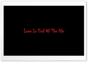 Love Is End Of The Life Ultra HD Wallpaper for 4K UHD Widescreen desktop, tablet & smartphone