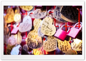 Love Locks HD Wide Wallpaper for Widescreen