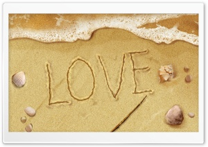Love On The Beach HD Wide Wallpaper for Widescreen