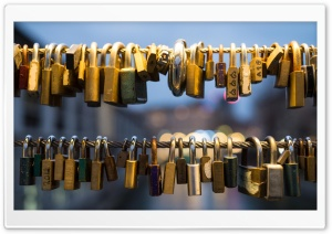 Love Padlocks HD Wide Wallpaper for Widescreen