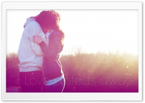 Love Protects HD Wide Wallpaper for Widescreen