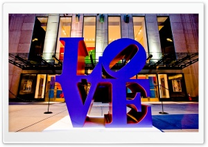Love Sculpture, Avenue of the Americas, Manhattan, New York City, United States HD Wide Wallpaper for Widescreen