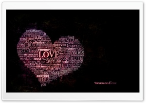 Love Typography HD Wide Wallpaper for Widescreen