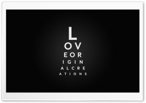 Love Typography HD Wide Wallpaper for 4K UHD Widescreen desktop & smartphone