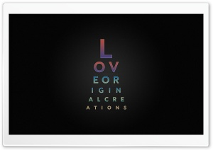 Love Typography Design HD Wide Wallpaper for 4K UHD Widescreen desktop & smartphone