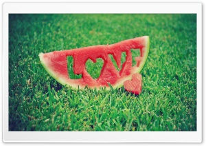 Love Watermelon HD Wide Wallpaper for Widescreen